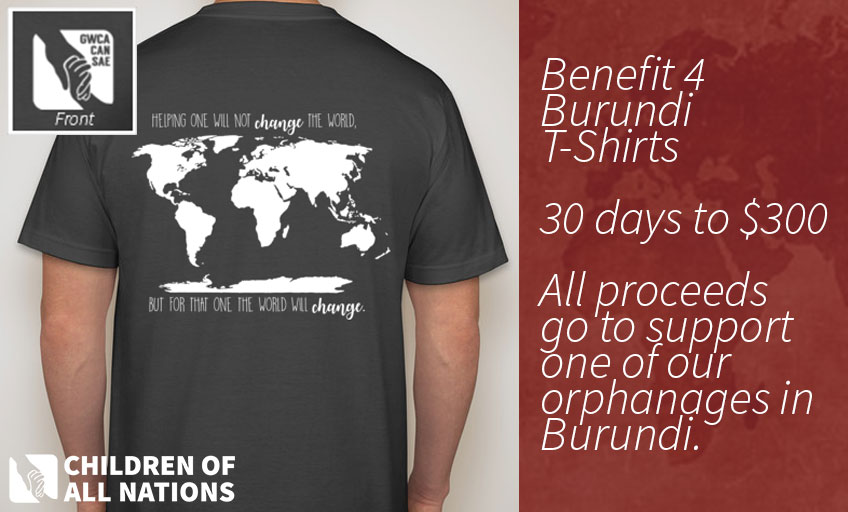 Benefit for Burundi T-Shirt